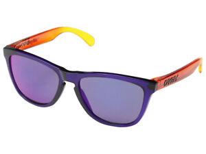 Oakley-Frogskins-Surf-Collection-Sunglasses-OO9013-45-Purple-Orange-Red-Iridium