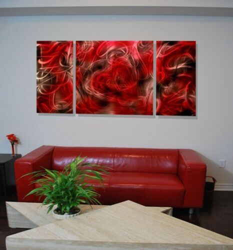"57"" Burning Heart Abstract Metal Artwork by Lubo"