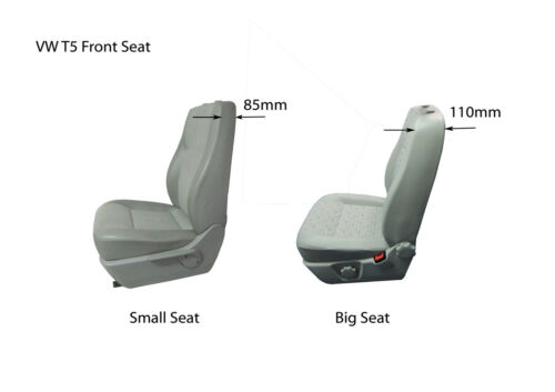 VW Transporter T6 EXTRA Heavy Duty Grey Van Seat Covers with Logos /& Clipboard