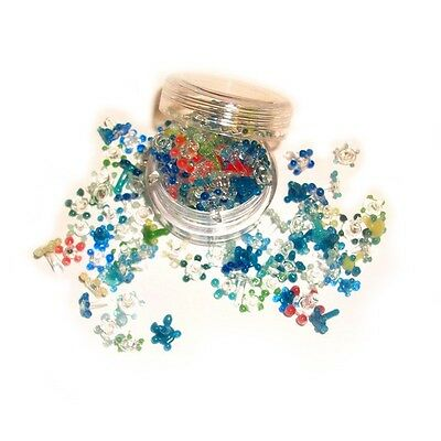 200 Small Glass Daisy Style Pipe Screens Pyrex Flower Smoking Screens Assorted
