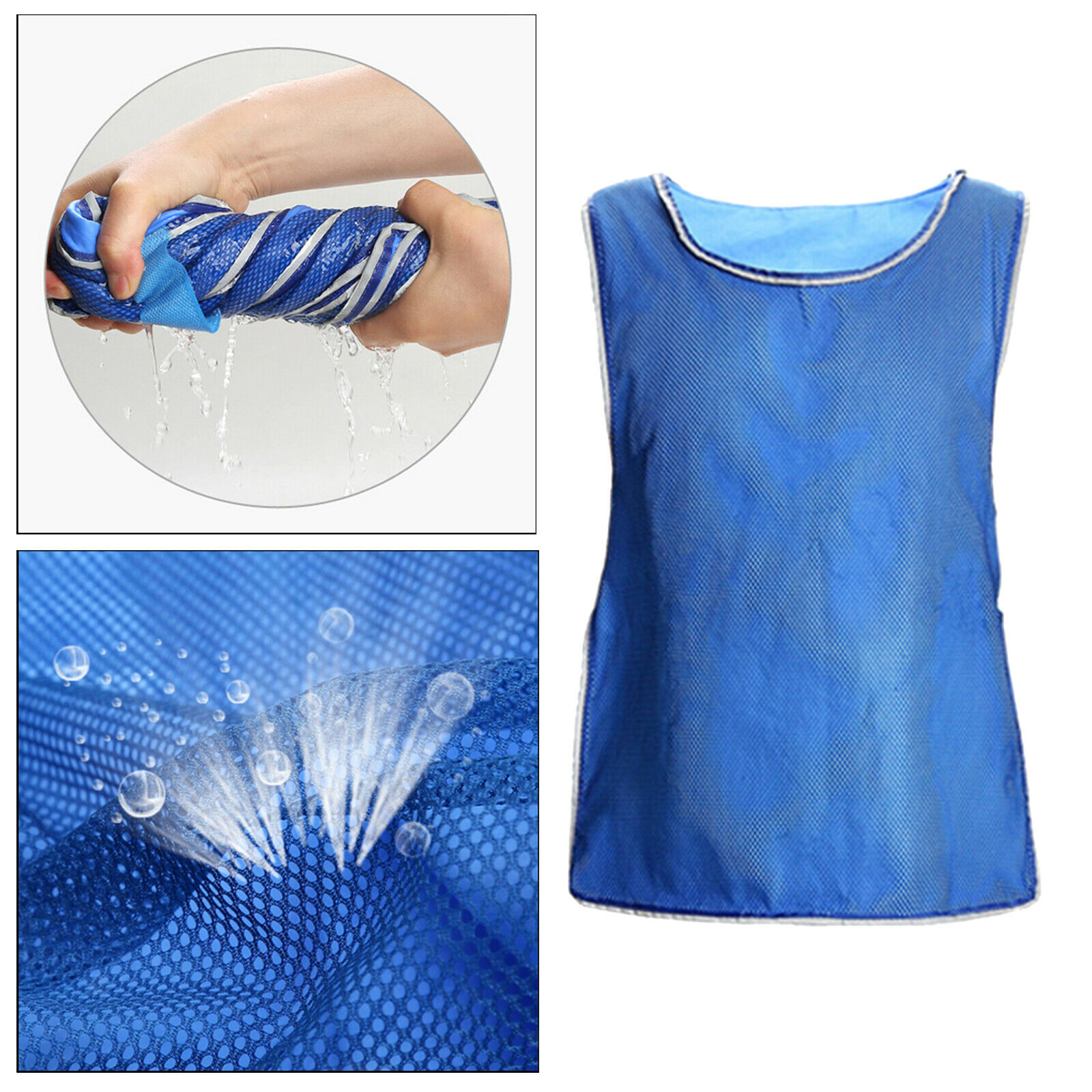 Men Women PVA Summer Cooling Clothing Ice Vest for Outdoor Sport Working