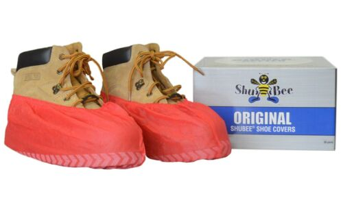 ShuBee® Original Shoe Covers Dispenser Box Red
