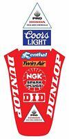 Front And Rear Fender Decals For 1990 1991 Honda Cr 250 Vintage Motocross