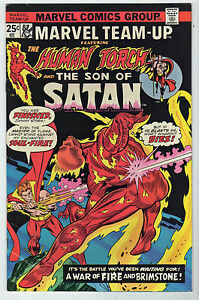 Marvel-Team-Up-32-VG-FN-1975-Marvel-LOT-7-Buscema-Human-Torch-SON-OF-SATAN