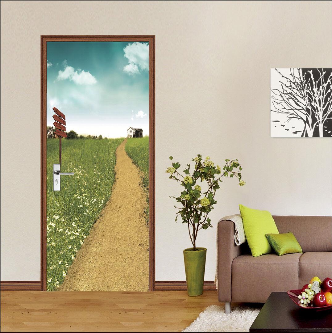 3D Feld Weg Tür Mauer Wandgemälde Foto Wandaufkleber AJ WALL DE Lemon