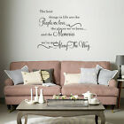 Quote Word Decal Vinyl DIY Home Room Decor Removable Art Wall Stickers Bedroom E