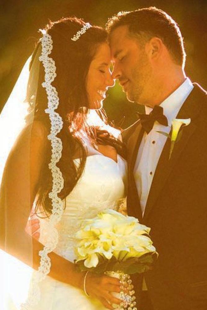 Bridal Wedding Mantilla Veil  Ivory 1 Tier Long Chapel Length 1//2in Lace Edge