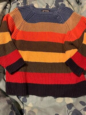 The Childrens Place Boys Big Long Sleeve Stripe Sweater