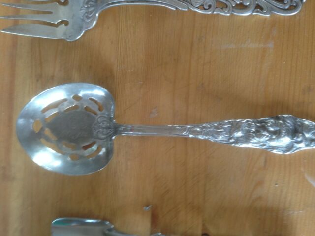 vintage silver plated RAIMOND ITALY slotted serving/berry spoon