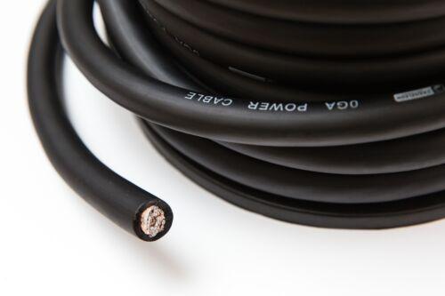 0 indicador cable de alimentación Cable de 5 metros de gran tamaño 65 mm² Camaleón Alambre Negro