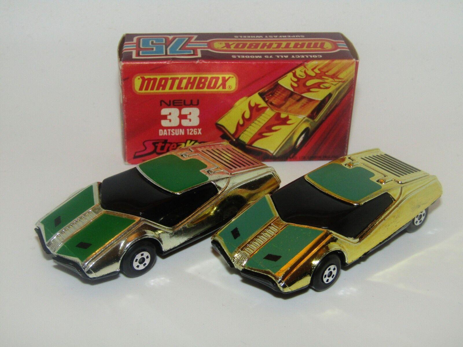 MatchBox Superfast No 33 Datsun 126X Streakers Silber PLATED GoldEN X MEGA RARE
