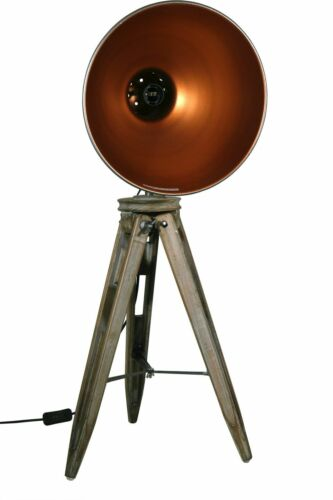 605456 STATIV STEHLAMPE STEHLEUCHTE SPOT STUDIOLAMPE Schwarz Gold DESIGN LAMPE