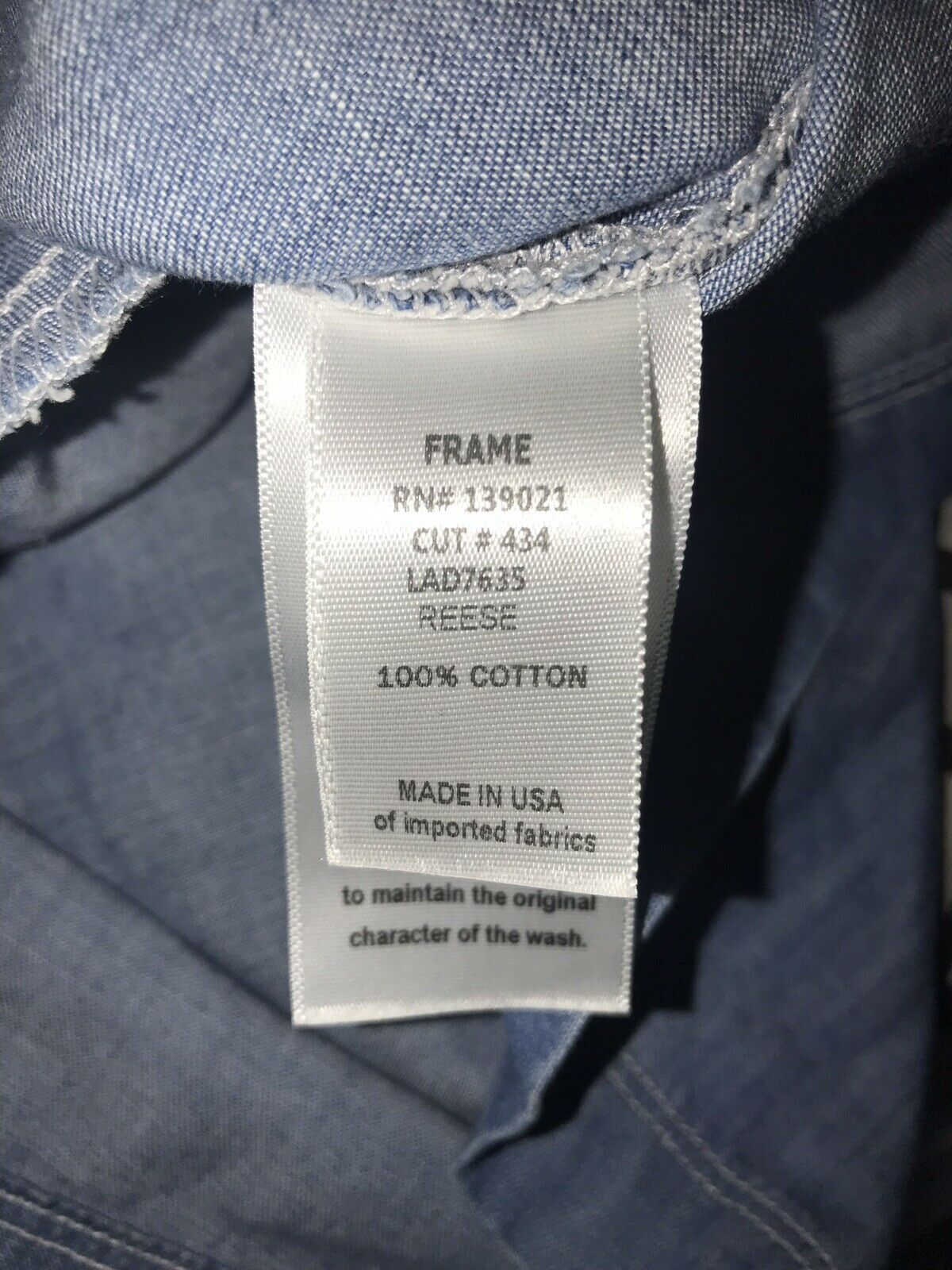 Frame Le apron Reese Soft Denim Overall Skirt Dre… - image 5