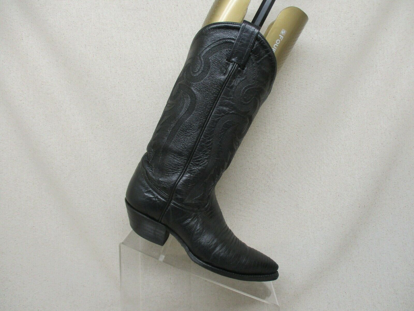 TONY LAMA nero Leather Lizard Cowboy Western stivali donna Dimensione 5 B Style 8176
