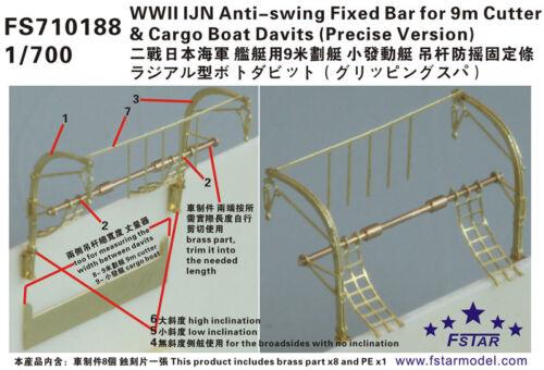 Fivestar 1//700 IJN Anti-swing Fixed Bar for 9m Cutter/&Cargo Boat Davits FS710188