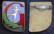 DISTINTIV (2) SPORTIVI GINNASTICA ARTISTIC ZAGREB JUGOSLAVIJA 1957 YUGOSLAVIA