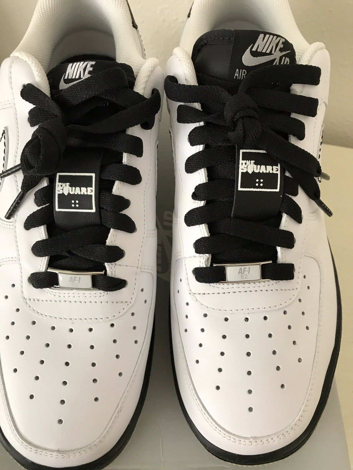 nike air force 1 1 force '07 taille 9,5 315122112 cheptel mort blanc / noir fd67fb