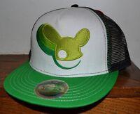 Deadmau5 Deadmouse Embroidered Logo Trucker Style Hat Cap Flatbill Snapback Adj