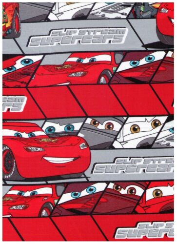 Disney Cars McQueen Red on Red Stripes by Springs Creative bty PRICE REDUCED