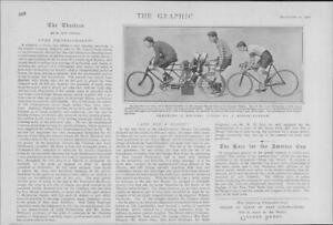 1901-Antique-Print-LONDON-Crystal-Palace-Motor-Tandem-Anerley-Bike-Club-55