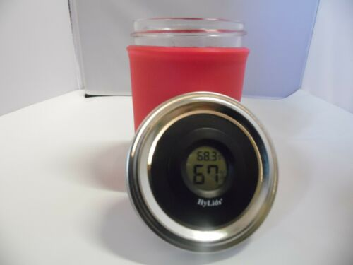 CURING JARS DIGITAL HUMIDITY//TEMP GLASS MANSON JAR 7G 14G 28G HUMIDOR HYGROMETER
