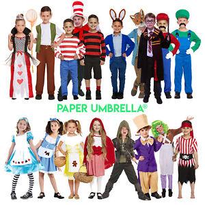 SCHOOL BOOK DAY CHARACTERS COSTUME SETS UNISEX BOOK WEEK ADULTS KIDS FANCY DRESS