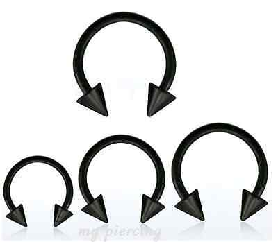 """5//16/"""" 3//8/"""" 316L Steel Eyebrow Helix Tragus Spike Barbell 2pcs THINSET 20G~1//4/"""""""