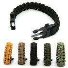 Paracord Survival Bracelet Whistle Gear Kits Flint Fire Starter Scraper Outdoor