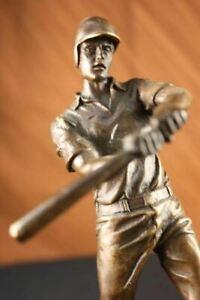 Hot-Cast-Signed-Original-Baseball-player-Trophy-Gift-Bronze-Sculpture-Statue