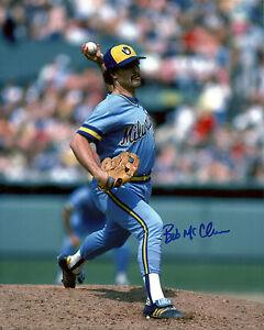 Brewers Pitcher BOB McCLURE Signed 8x10 Photo #4 AUTO - 1982 World Series
