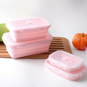 4Pcs-Collapsible-Lunch-Box-Silicone-Food-Storage-Container-for-Microwave-Freezer