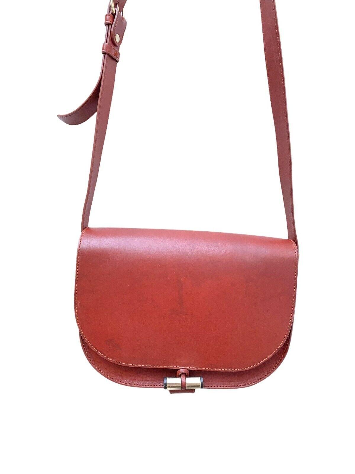 A.P.C. Brown Leather Handbag Bag - half Moon - APC - image 1