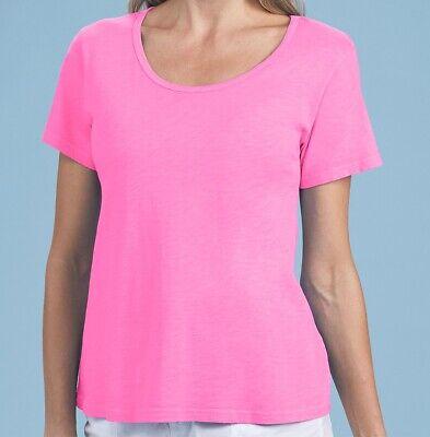 FRESH PRODUCE Small Flamingo PINK JANEY Pinstripe Pocket Tee Top $55 NWT New S