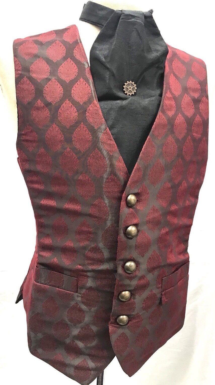 Halloween Spécial Brocart Gilet Poitrine pour 102cm Cravate & Épingle de Inclus