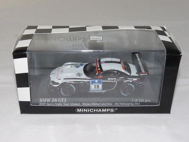 Minichamps 437142019 BMW Z4 GT3 - BMW Sport s Trophy Team Schubert - 24h Nürb...  | Einfach zu spielen, freies Leben