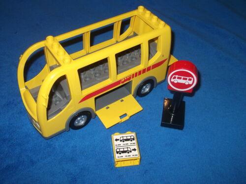 LEGO DUPLO VILLE RIEISIGER BUS LINIENBUS REISEBUS aus Nr Schilder 5636 GELB