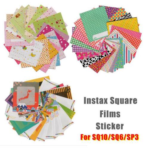 60 un. X Caja Foto Adhesivos Para Fuji Instax Cuadrado SQ10 SQ6 SP3 películas Hazlo tú mismo