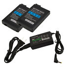 2X 1200mAh 3.6V Battery Pack + AC Adapter Charger for Sony PSP 2000 3000