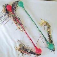 6 Twirling Streamer Cha Cha Baton Girl Toy Twirl Tinsel Batons Dance Wand