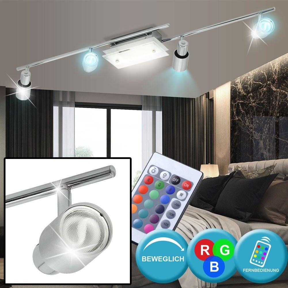 RGB LED Plafonnier Salon Salle à manger Télécommande Dimmer Glass Spots Portable