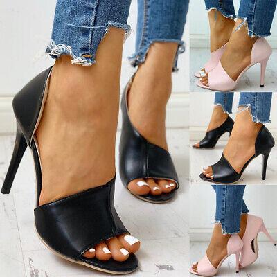 ✅Damen Pumps Peeptoes High Heels Absatzschuhe Blockabsatz Chunky Sandalen Schuhe | eBay