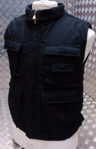 Hunters Action Vest Stealth Nero Tattico Pesca Body Warmer Tutte le Taglie-Nuovo