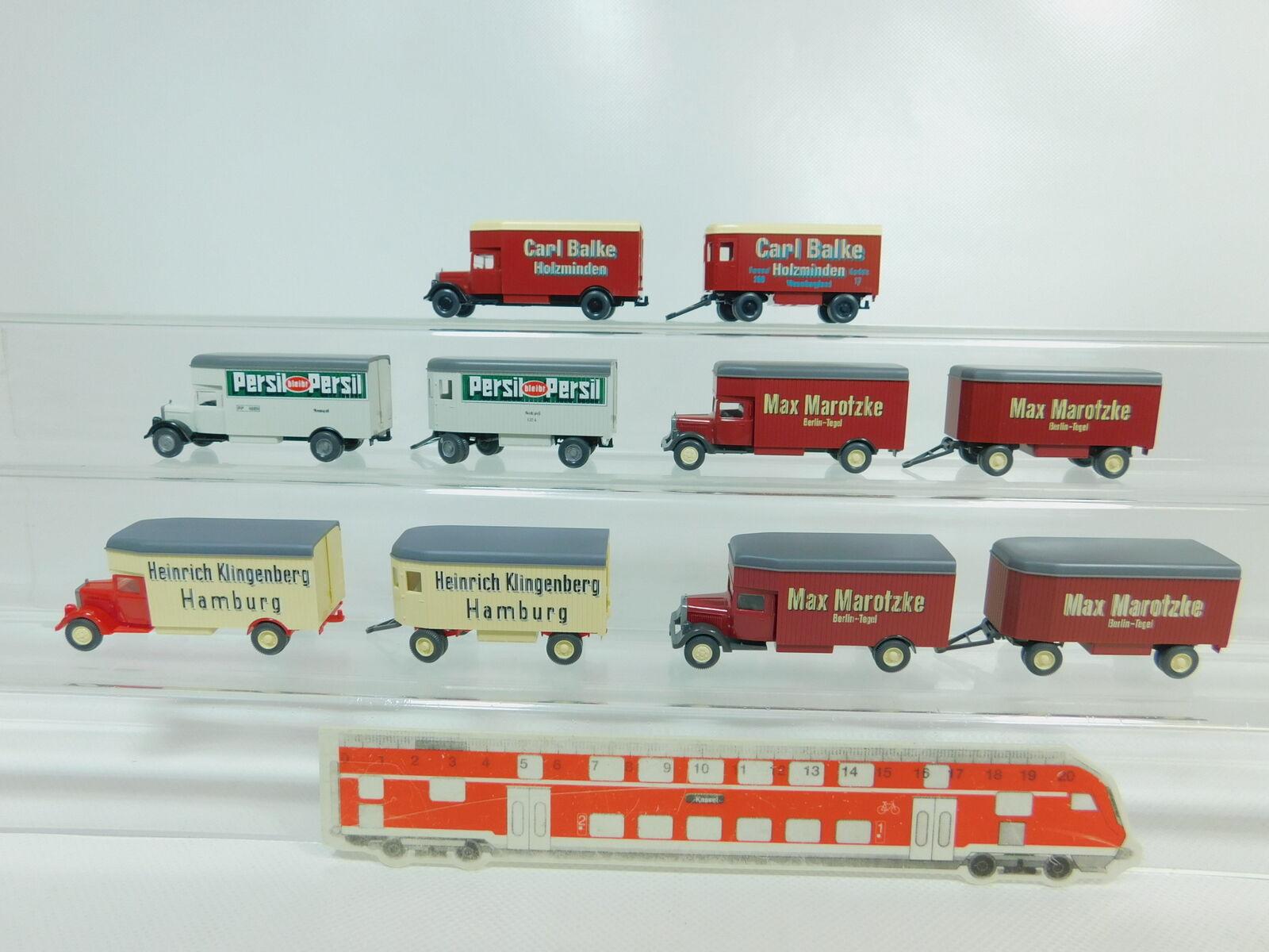 BO463-0,5 X Wiking H0   1 87 Camión MB  Maredzke + Persil + Balke +