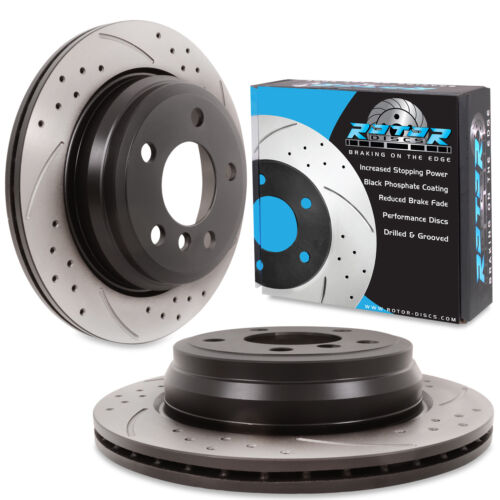 REAR DRILLED GROOVED 300mm BRAKE DISCS FOR BMW 4 F32 F33 F36 420 420 425 428 435
