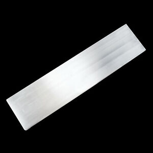 XL-Polished-Selenite-034-Charging-034-Plate-8-034-Flat-Natural-Crystal-Display-Plate-Wand