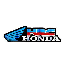 hrc honda blue wing logo car motorcycle bike racing team badges rh ebay com honda wing logo meaning honda wing logo wallpaper