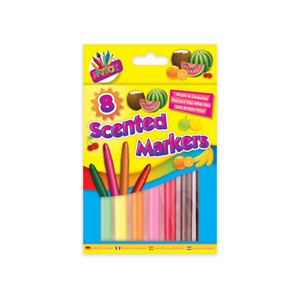 8PC ~NON-TOXIC~ Jumbo Scented Markers Felt Tip Pens Smelly Fruity Fragrance Art