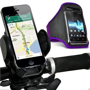 Quality-Bike-Bicycle-Handlebar-Phone-Holder-Sports-Armband-Case-Cover-Purple