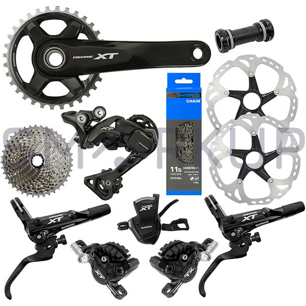 New 2019 Shimano Deore XT  M8000 Ice Tech Disc Brake Groupset 46t 170 175mm 11s  fashionable