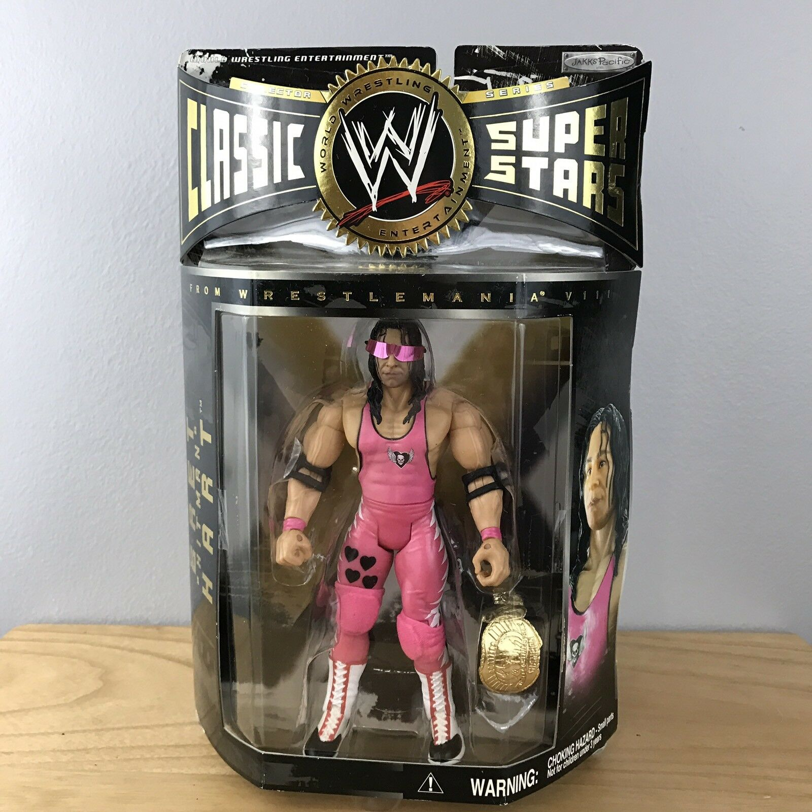 WWE WWF Classic Superstars Bret Hart Series 3 Hitman Jakks Wrestling Figure
